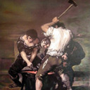 Re-creation of Goya's 'The Forge'